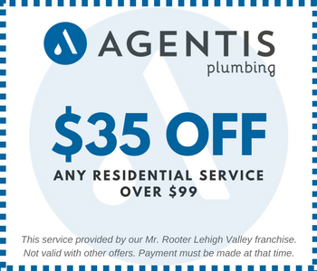 Image of Printable Residential Service $35 Off $99+ Coupon for Bethlehem Plumbing Company - Agentis Plumbing