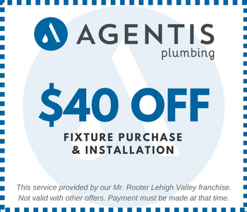 Image of Printable Fixture Purchase and Installation Service $40 Off Coupon for Bethlehem Plumbing Company - Agentis Plumbing