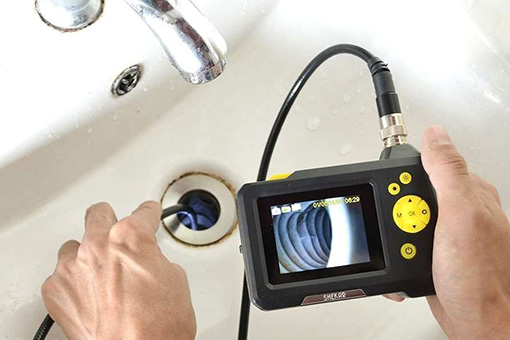 Bethlehem Residential Property Management Plumber Using Video Camera to Inspect Allentown PA House Water Lines